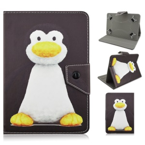 Universal Leather Stand Case Cover for Samsung Galaxy Tab 3 7.0 / Tab 2 7.0 etc - Penguin