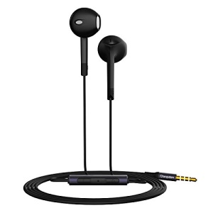 LANGSTON E6 Earphone with Mic and Remote Control for iPhone Samsung - Black