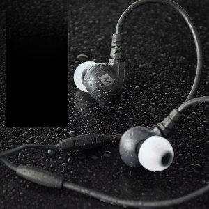 MEELECTRONICS M7P Secure-Fit Sports In-ear Earphone with Mic & Remote - Black