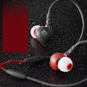 MEELECTRONICS M7P Secure-Fit Sports In-ear Earphone with Mic & Remote - Red