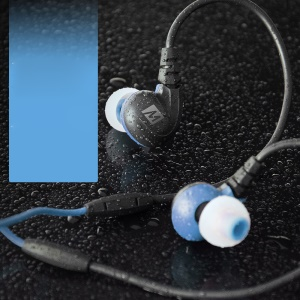 MEELECTRONICS M7P Secure-Fit Sports In-ear Earphone with Mic & Remote - Blue