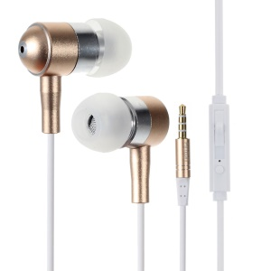PINZUN In-ear Hands-free Earphone with Volume Control for iPhone Samsung - Gold