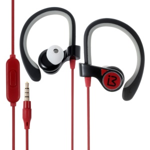 BENWIS E300 In-ear Sports Earphone Earhook Headset with Mic - Red