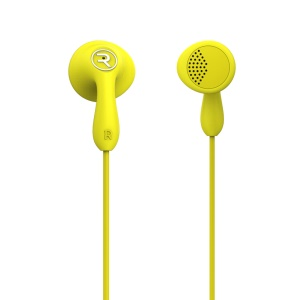 REMAX Candy RM-301 Wired Earphone for iPhone Samsung Sony - Yellow