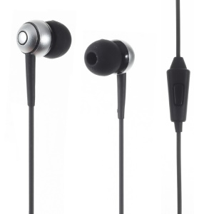 V11 3.5mm Wired Earphone with Microphone for iPhone Samsung - Black