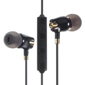 JOYROOM JR-E105 Stereo Wired Earphone Ceramic Cavity with Mic Shutter Function - Black