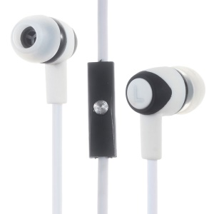 PHW-202 Earphone In-ear with Mic for iPhone Samsung Mobile Phone MP3/MP4 - White