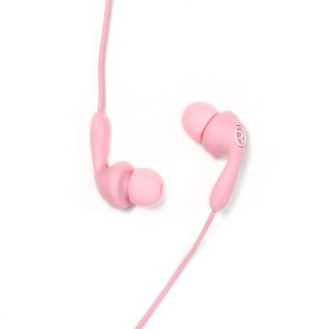 REMAX 505 Candy Wired Headset 3.5mm In-ear Earphone with Mic for iPhone Samsung LG - Pink
