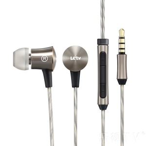 LETV In-ear Metal Shell Earphone with Microphone for LeTV iPhone Samsung etc Smartphones