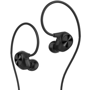 LETV Reverse In-Ear Headphone with Microphone - Black