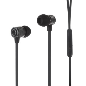 ESONG Q9 3.5mm In-ear Stereo Earphone Headset with Mic for iPhone - Black
