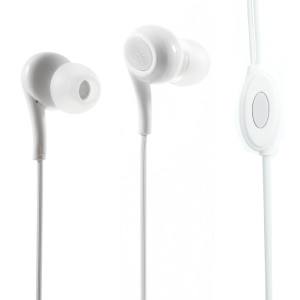 LANGSTON JD-91 In-ear Earphone with Mic for iPad iPhone Samsung - White