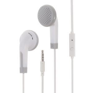 3.5mm In-ear Earphone with Remote and Mic - White