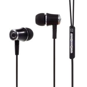 LANGSDOM E2 3.5mm Stereo Earphone with Mic & Remote Control for iPhone Samsung Huawei - Black