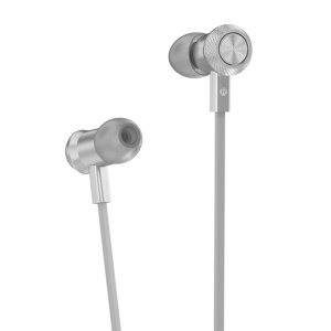 HOCO M7 Metal Wired In-ear Earphone with Remote Control for iPhone Samsung - Silver
