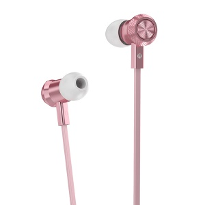 HOCO M7 Metal Wired In-ear Earphone with Remote Control for iPhone Samsung - Rose Gold