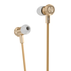 HOCO M7 Metal Wired In-ear Earphone with Remote Control for iPhone Samsung - Gold