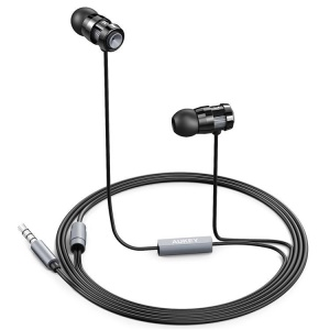 AUKEY EP-C2 3.5mm Metal In-ear Earphone with Mic for iPhone Samsung