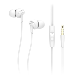 ROCK Y1 Stereo In-ear HiFi Earphone with Remote Control - White