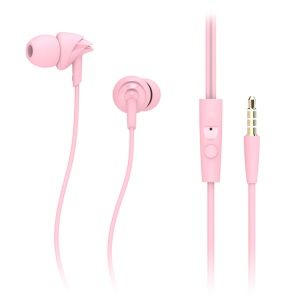 ROCK Y1 Stereo In-ear HiFi Earphone Earpiece with Remote Control - Pink