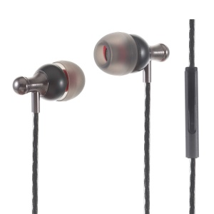 ESONG Q11 In-ear Metal Earphone with Mic & Remote Control for iPhone Samsung - Grey