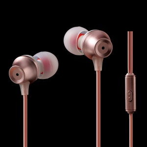 FSHANG Q1 In-ear 3.5mm Headset Earphone with Microphone - Rose Gold