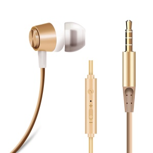 JOYROOM Heavy Bass Wired Headphone with Microphone Volume Control (EL113) - Gold