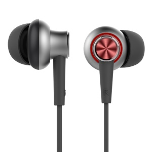 ROCK Y5 Stereo 3.5mm In-ear Earphone Headset with Mic - Red