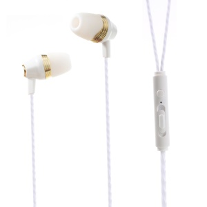 PINZUN In-ear Earphone with Microphone Volume Control for iPhone Samsung (EJ-006) - White