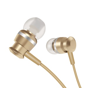JOYROOM EL122 3.5mm Metal Music In-ear Headphone with Mic - Gold