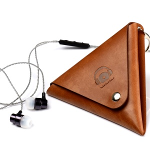WUW 3.5mm In-ear Earphone + Triangle Leather Case Cable Organizer