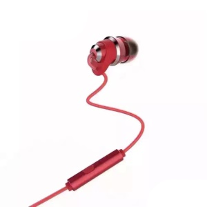 REMAX In-ear 3.5mm Stereo Earphone Headphone with Remote and Mic for iPhone Samsung - Red