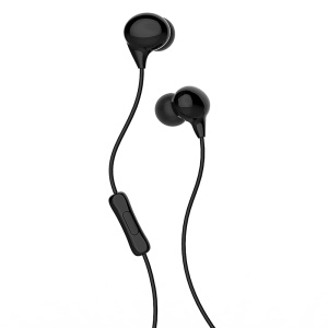 USAMS EP-9 3.5mm In-ear Earphone with Microphone for iPhone Samsung - Black