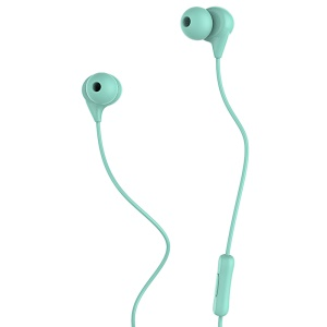 USAMS EP-9 1.2m In-ear 3.5mm Earphone with Microphone for iPhone Samsung - Cyan