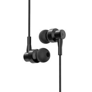 INHON M3 3.5mm Woven HiFi Stereo In-ear Earphone with Mic for iPhone iPad iPod Samsung - Black