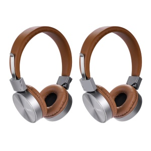 HOCO W2 3.5mm Over-ear Headphone Foldable Headset with Mic - Brown