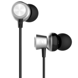 USAMS EP-10 3.5mm High Fidelity Aluminum Alloy In-ear Earphone for iPhone Samsung - Grey