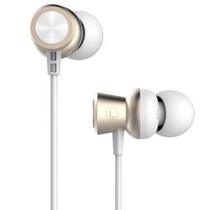 USAMS EP-10 3.5mm Aluminum Alloy In-ear High Fidelity Earphone for iPhone Samsung - Gold