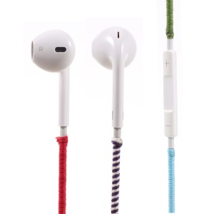 Tribal Braided Cable 3.5mm In-ear Earphone with Mic & Remote Control - Red / Blue