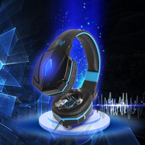 KOTION EACH G4000 Mega Bass Wired Gaming Headset mit Mic - Schwarz / Blau