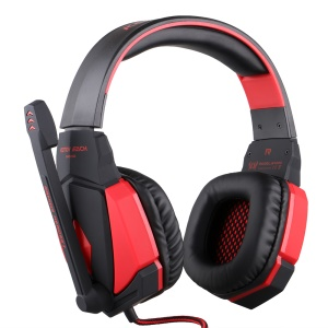 EACH G4000 PC Gaming Stereo Headset Headphone with Volume Control Microphone - Red