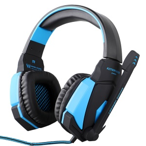EACH G4000 PC Gaming Stereo Headphone with Volume Control Microphone - Blue