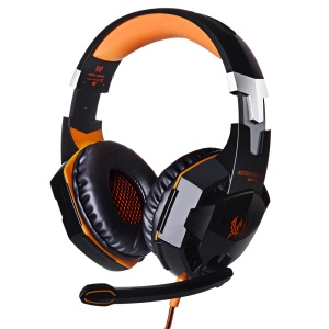 EACH G2000 Over-ear Stereo Bass Gaming Headphone Headset for PC Game - Orange