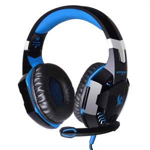 EACH G2000 Over-ear Stereo Bass Gaming Headset Headphone for PC Game - Blue