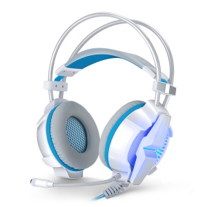 EACH G7000 USB 7.1 Surround Sound PC Gaming Headset Headphone with Mic LED Light - White
