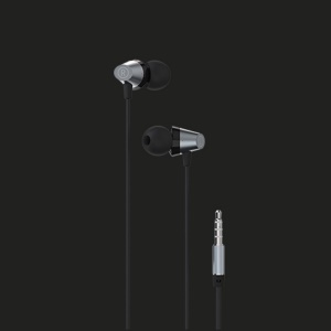 JOWAY HP22 3.5mm In-ear HiFi Earphone with Remote and Mic 1.2m - Grey