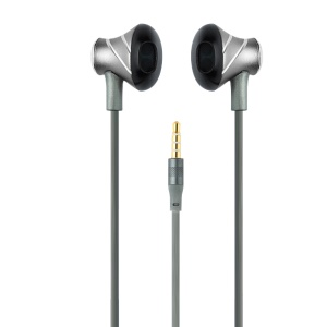 TOTU Melody Series 3.5mm Wired Metal Earphone Headset with Mic - Grey