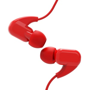 JOYROOM EL120 3.5mm Wire HiFi Noise Cancelling In-ear Plastic Music Earphone with Mic - Red