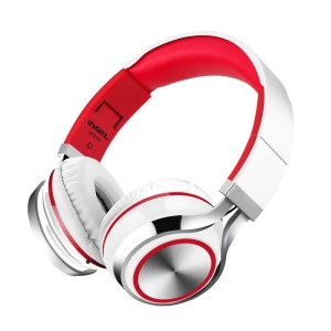 INGEL IP878 3.5mm Wired Foldable Stereo Hands-free Headset Super Bass Headphone - White / Red