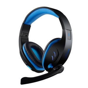 SOUYO SY968 7.1 Virtual Surround Sound USB Wired Gaming Headset with Mic & LED Light - Black / Blue